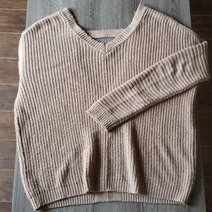 Open Back Drop Shoulder Knit Sweater | S